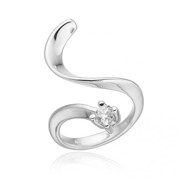 Blicher Fuglsang Sølv ring med zirkonia - 1227-39R