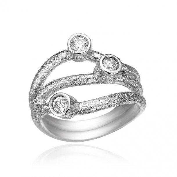 Blicher Fuglsang Sølv ring med zirkonia - 1237-39R