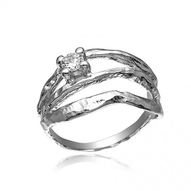 Blicher Fuglsang Sølv ring med zirkonia - 1242-39R