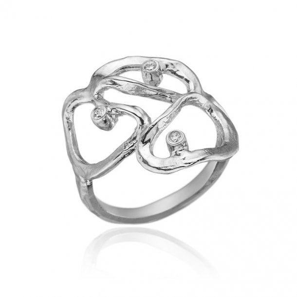 Blicher Fuglsang Sølv ring med zirkonia - 1271-39R
