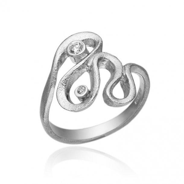 Blicher Fuglsang Sølv ring med zirkonia - 1272-39R