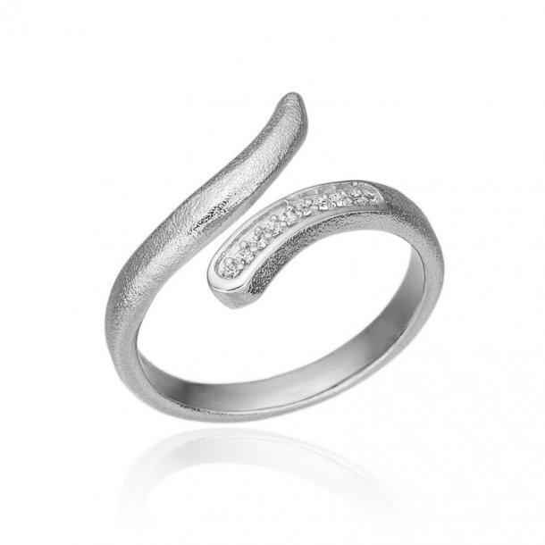 Blicher Fuglsang Sølv ring med zirkonia - 1278-39R