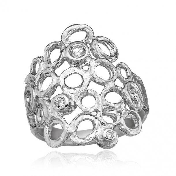 Blicher Fuglsang Sølv ring med zirkonia - 1280-39R