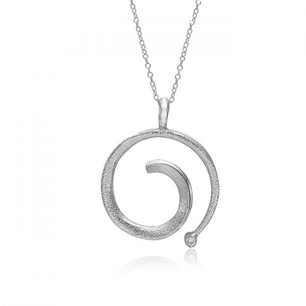Blicher Fuglsang Oxideret sølv vedhæng med kæde - 2443-39RC