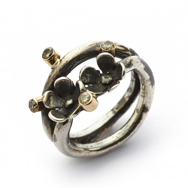 By Birdie Ring Comet Twin Flower Wire - 50110800
