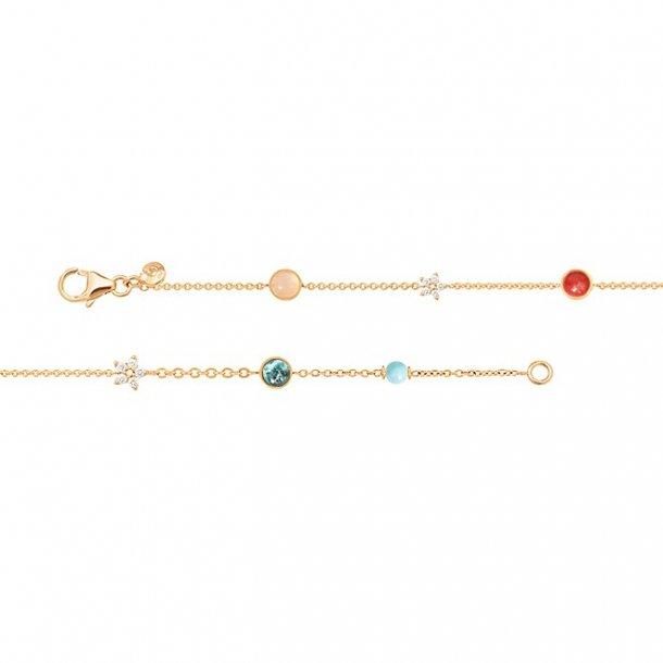 Ole Lynggaard Magic Circus armbånd med blå topaz - C0073-407