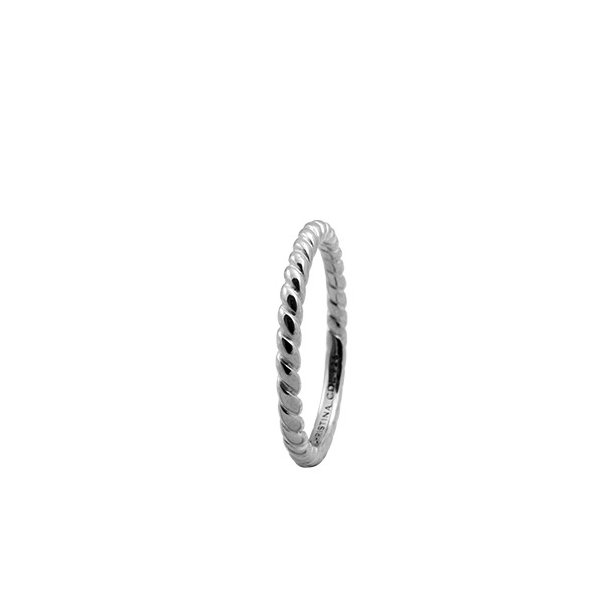 CHRISTINA Sølvring Rope - 0.1A