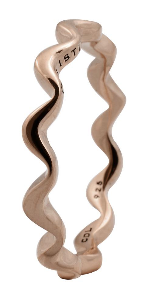 CHRISTINA Rose Sølvring Wave - 0.2C Størrelse 49