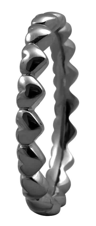 CHRISTINA Black Sølvring Million Love - 1.5D Størrelse 49