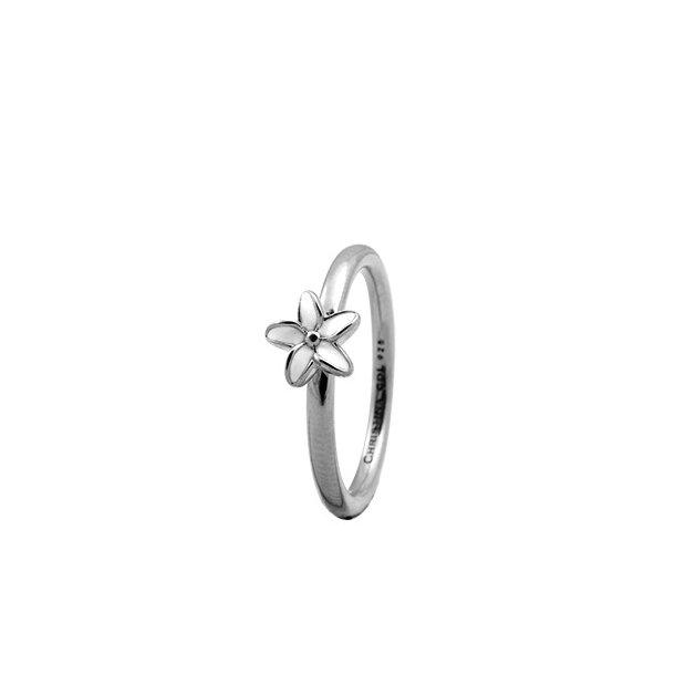 CHRISTINA Sølvring Flower - 1.8A