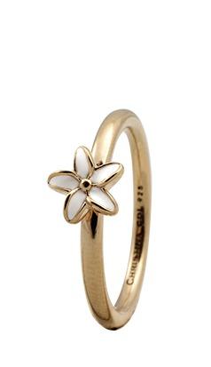 CHRISTINA Forgyldt Sølvring Flower - 1.8B Størrelse 49