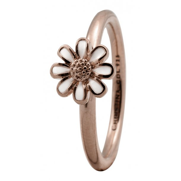 CHRISTINA Rose sølvring Marguerite  - 1.9C