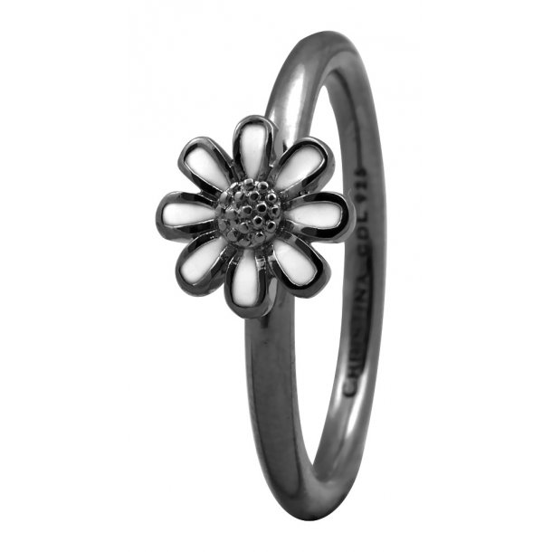 CHRISTINA Black Sølvring - 1.9D