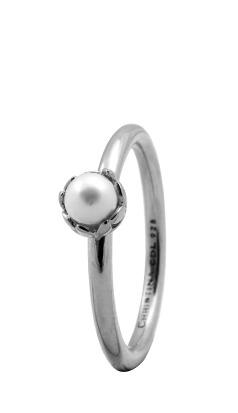 CHRISTINA Sølvring Pearl Flower - 2.2A Størrelse 55