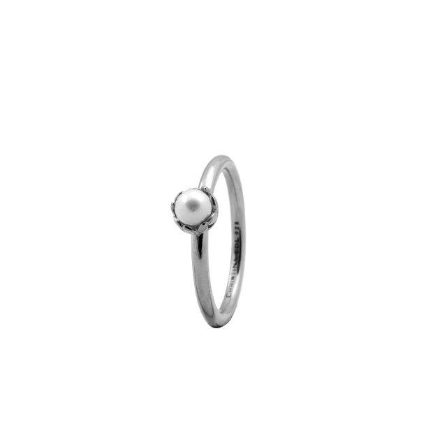 CHRISTINA Sølvring Pearl Flower - 2.2A