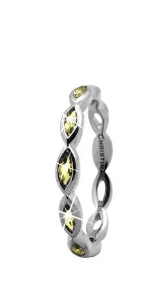 CHRISTINA Sølvring Eternity Peridot - 2.7A Størrelse 49