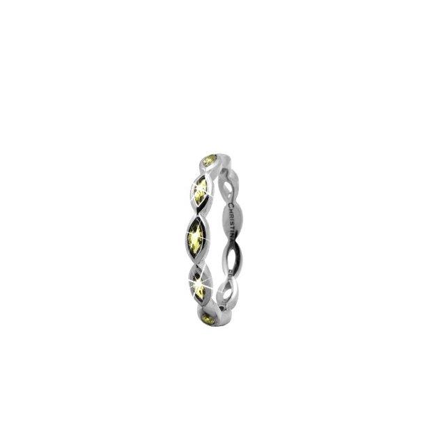 CHRISTINA Sølvring Eternity Peridot - 2.7A