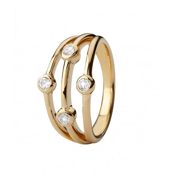 Christina Thrown sølv ring  - 3.18B