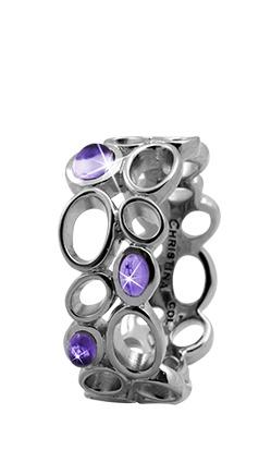 CHRISTINA Sølvring Big Amethyst Bubbles - 3.10A Størrelse 53