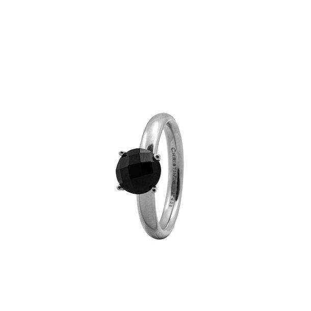 CHRISTINA Sølvring Black ONYX - 3.1A