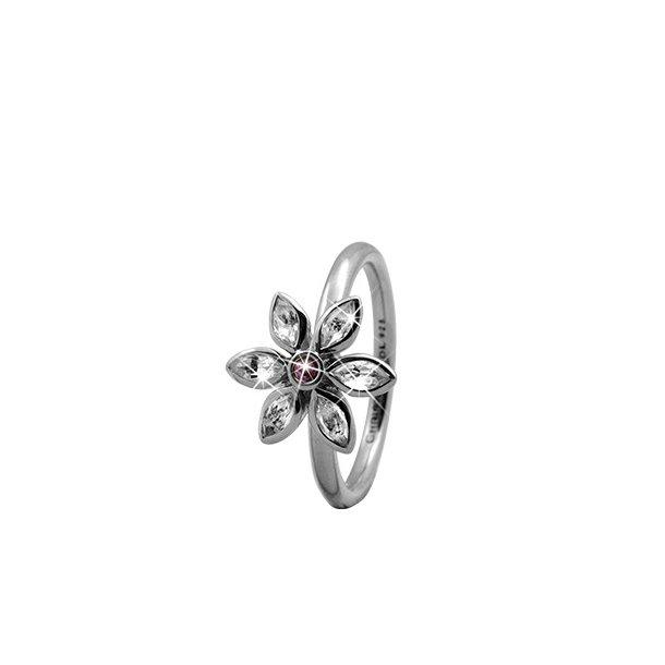 CHRISTINA Sølvring Marquise Flower - 3.6A