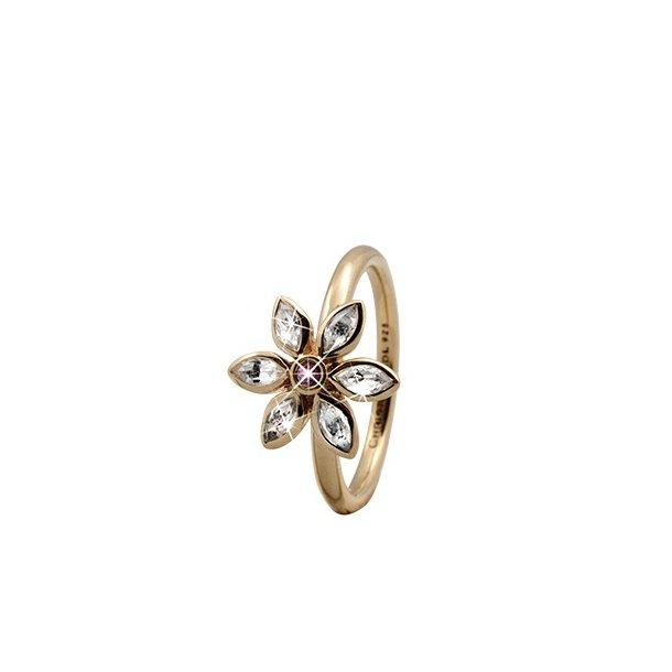 CHRISTINA Forgyldt Sølvring Marquise Flower - 3.6B