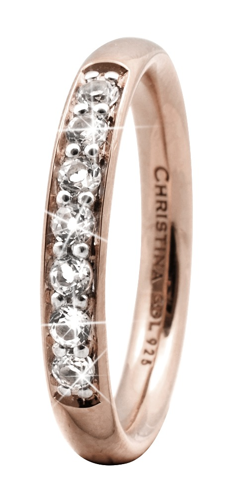 CHRISTINA Rose Sølvring Topaz Queen - 3.7C Størrelse 49