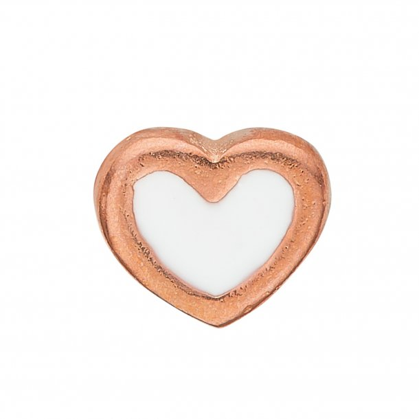 CHRISTINA Collect White Enamel Heart - 603-R3