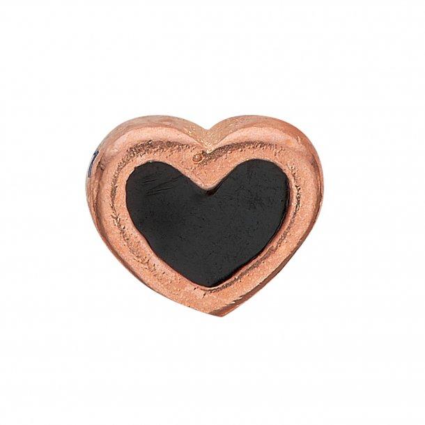 CHRISTINA Collect Black Enamel Heart - 603-R4