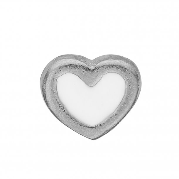 CHRISTINA Collect White Enamel Heart - 603-S3