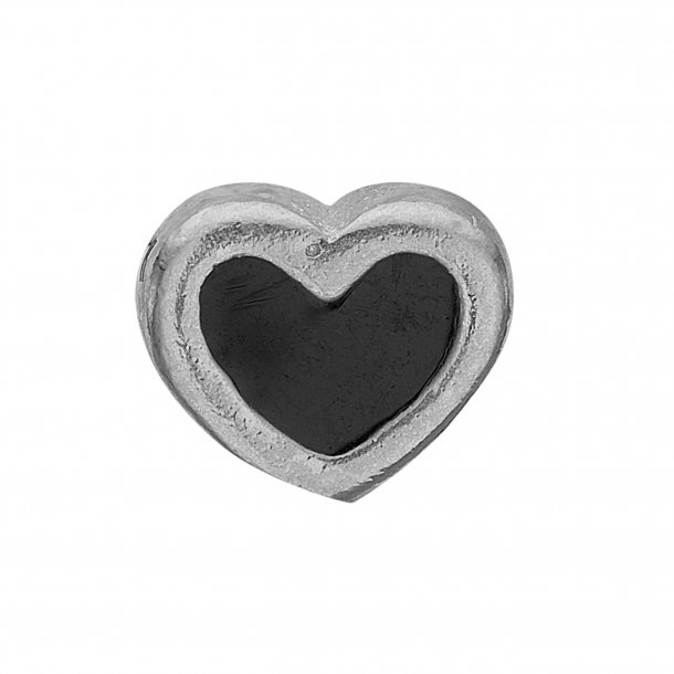 CHRISTINA Collect Black Enamel Heart - 603-S4