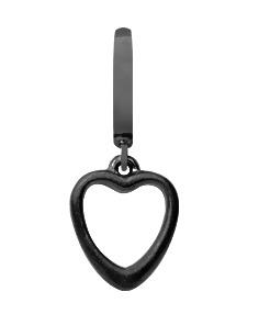 CHRISTINA Black Big Heart - 610-B15