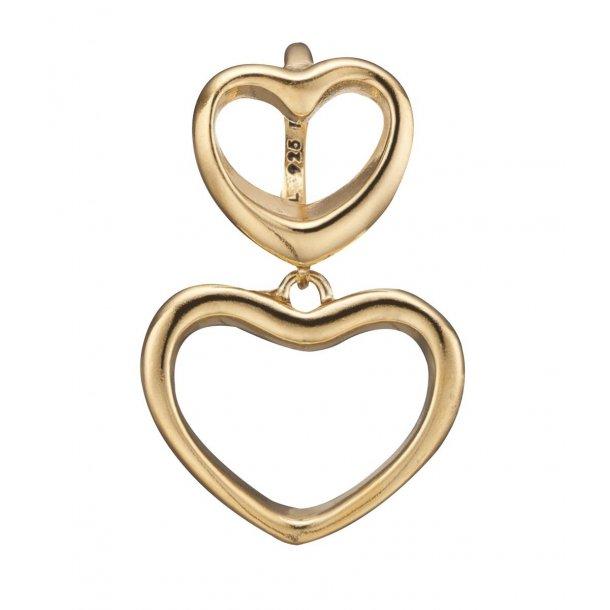 Christina open love forgyldt charm - 610-G62