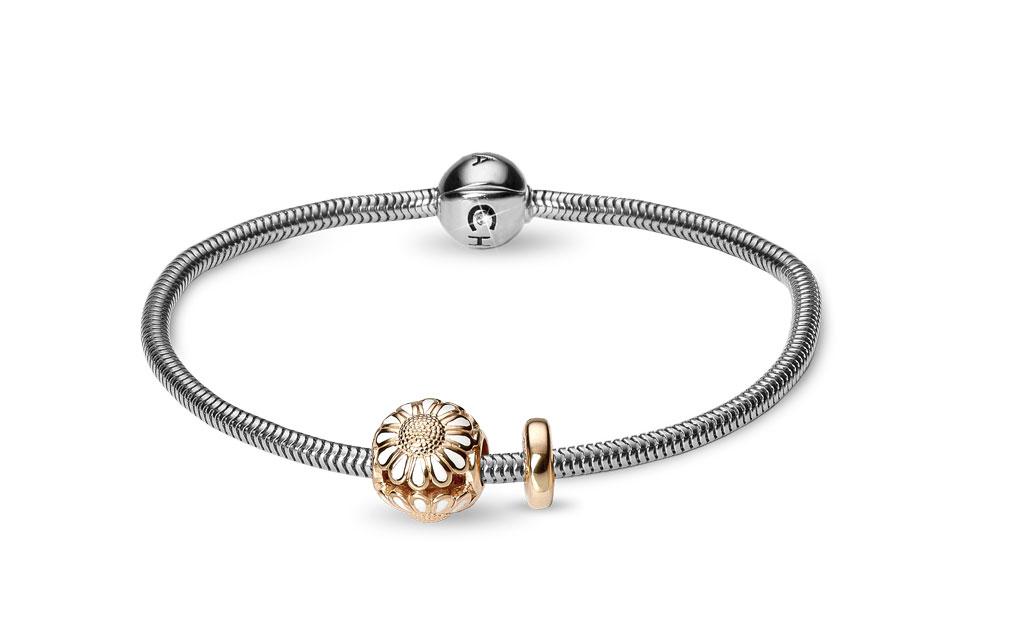CHRISTINA Beads Bracelet kampagne - 615-G-MARGUERIT 20 centimeter