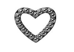 CHRISTINA Black Heart Dots - 630-B04