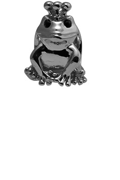 CHRISTINA Black Topaz Frog - 630-B36