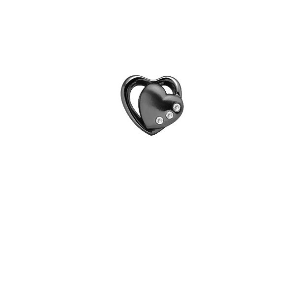 CHRISTINA Black Topaz 2-Hearts - 630-B60