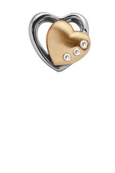 CHRISTINA Forgyldt Hearts 2-tone - 630-G60