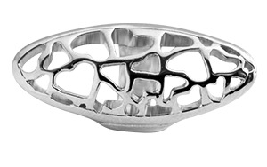 CHRISTINA Sølv Long Heart tube - 630-S61HEARTS