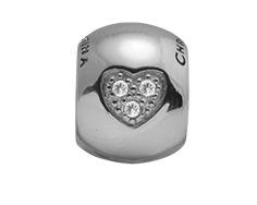 CHRISTINA Sølv Topaz Heart Dream - 630-S64