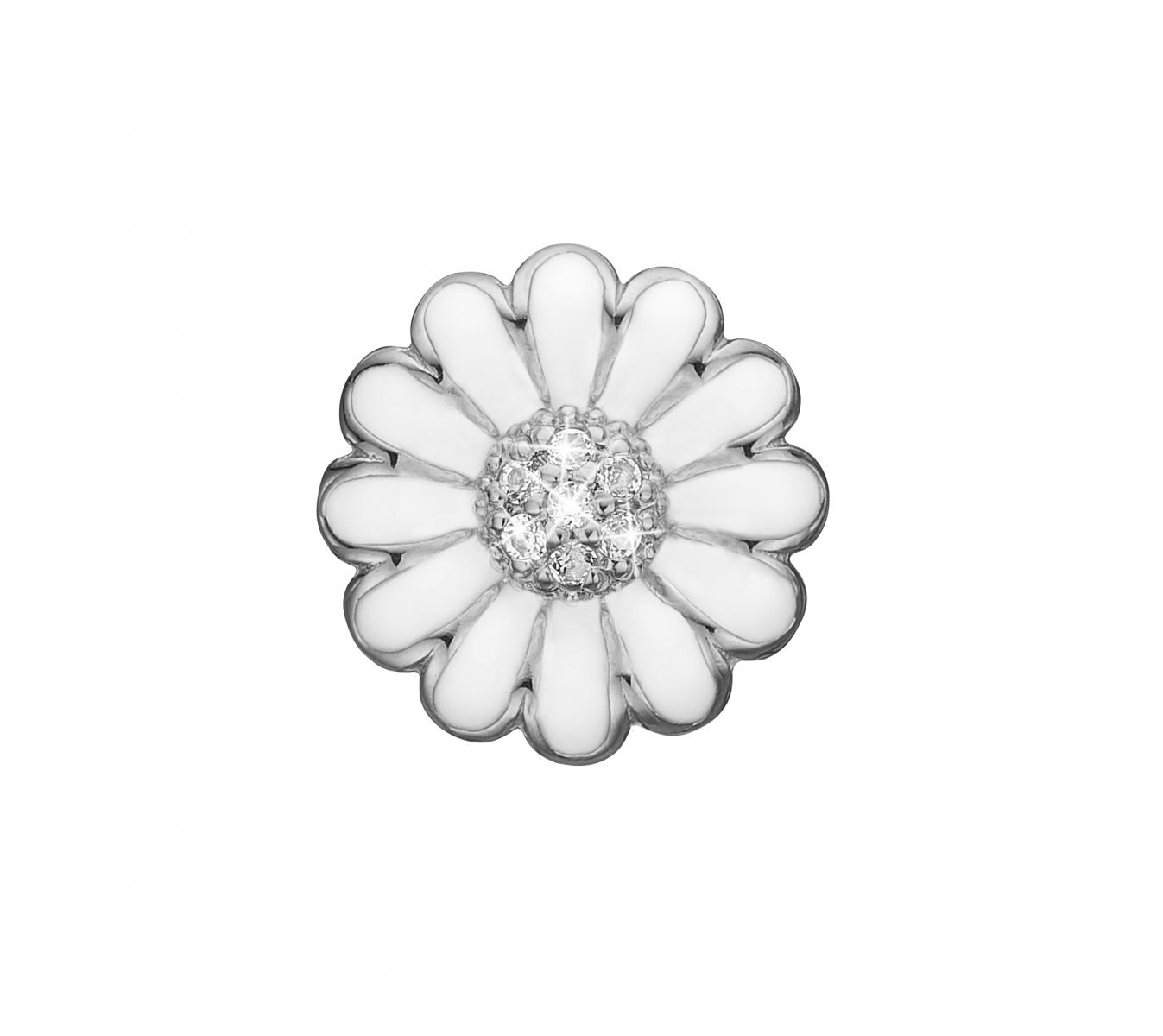 Christina topaz marguerite sølv charm - 650-S38