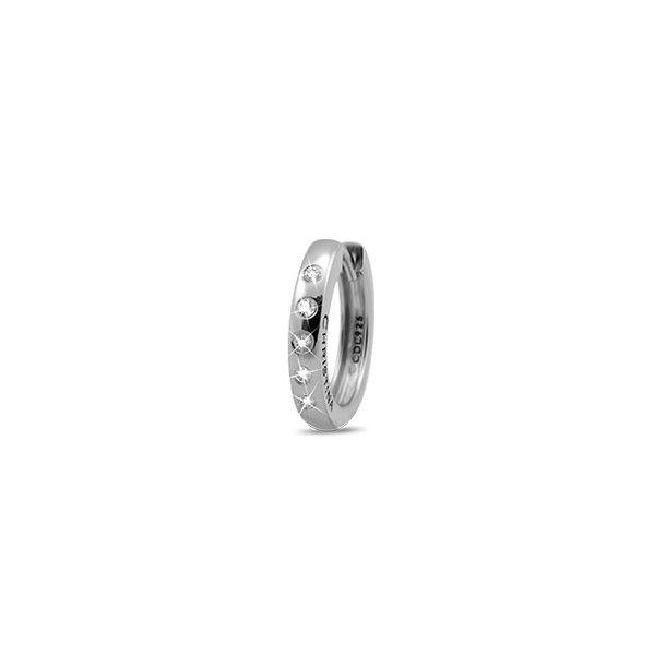 CHRISTINA Sølv creol - 670-S16TOPAZ