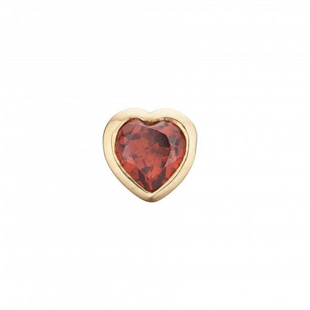 CHRISTINA Garnet Hearts - 671-G28