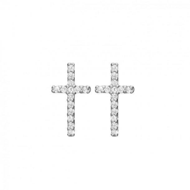 CHRISTINA Sparkling cross øretikker - 671-S35
