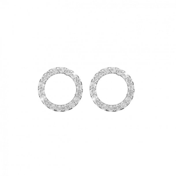 CHRISTINA Topaz circles ørestikker - 671-S36