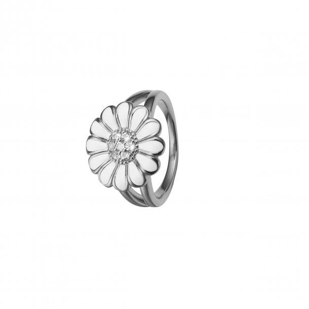 CHRISTINA White Marguerite ring 16 mm - 4.6A