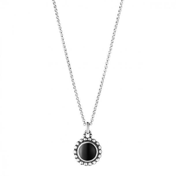 0f17db0e35a 3536261 Moonlight Blossom halskæde med sort agat fra Georg Jensen