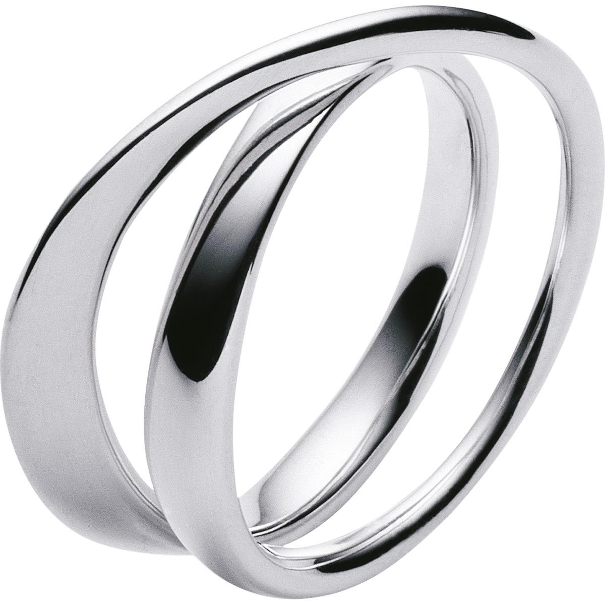 Georg Jensen sølv MÖBIUS ring - 3552340 Sølv 55