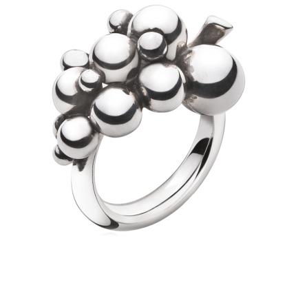 Georg Jensen MOONLIGHT GRAPES ring - 3558680 Ox sølv 51