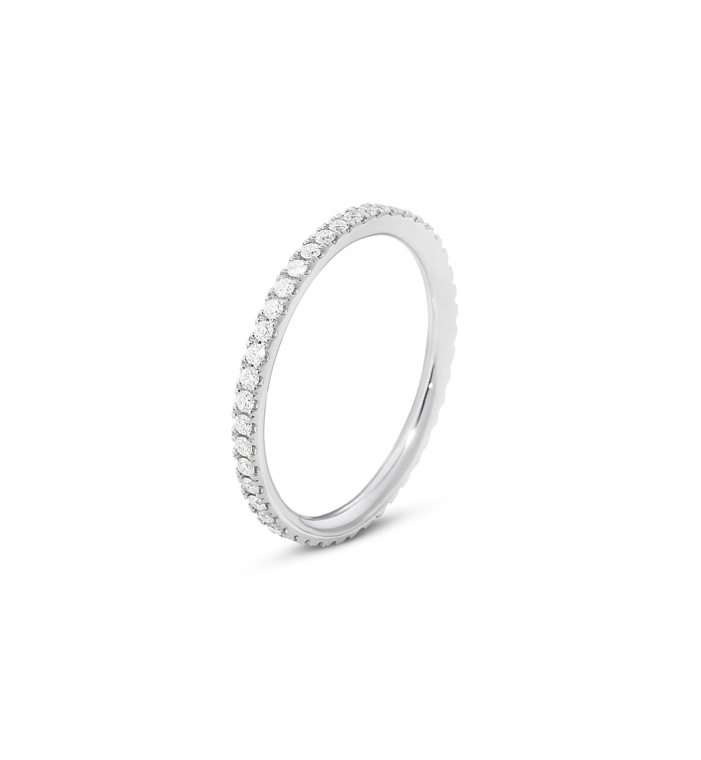 Georg Jensen AURORA ring - 3572740 18 kt / 0.26 ct 55